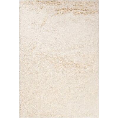 Hatton Ivory/White Area Rug Rug Size: 5 x 76