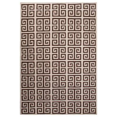 Greenford Ivory/Brown Area Rug Rug Size: Rectangle 5 x 8