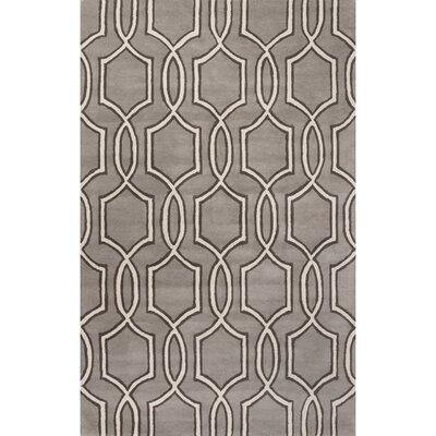 Parsons Hand-Tufted Gray/Ivory Area Rug Rug Size: 5 x 8