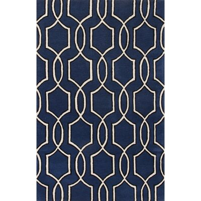 Parsons Hand-Tufted Blue/Ivory Area Rug Rug Size: 5 x 8