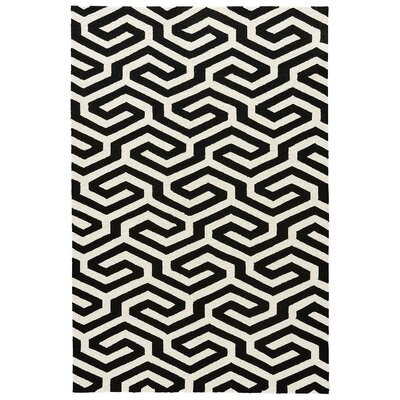 Cherrelle Cloud Cream/Caviar Indoor/Outdoor Area Rug Rug Size: Rectangle 5 x 76