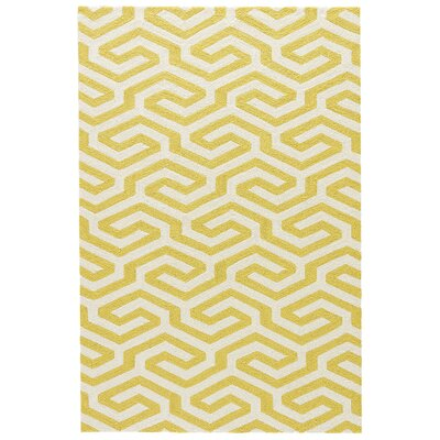 Cheaney Cloud Cream/Yellow Indoor/Outdoor Area Rug Rug Size: Rectangle 5 x 76