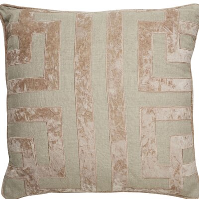 Brightwood Geometric Pattern Square Linen Throw Pillow
