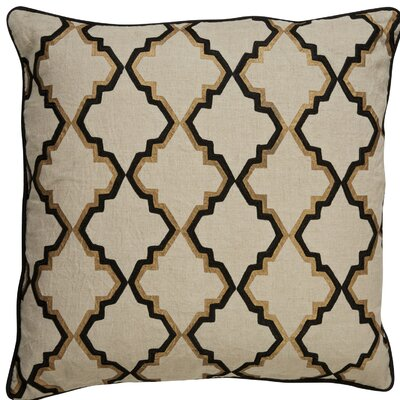 Brightwood Modern Tribal Pattern Square Linen Throw Pillow