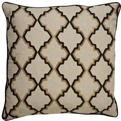 Brightwood Tribal Pattern Square Linen Throw Pillow