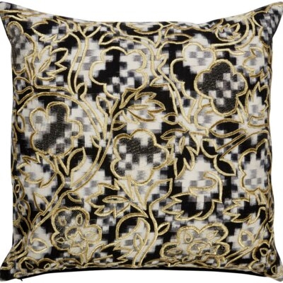 Brightwood Enbroidered Floral Pattern Cotton Throw Pillow