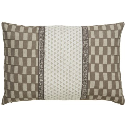 Brightwood Checker Rectangle Linen Throw Pillow