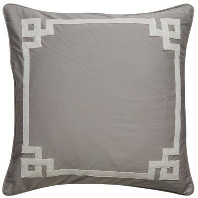 Highbury Border Pattern Throw Pillow Color: Grey / Ivory