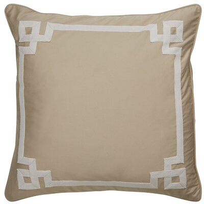 Darvell Border Pattern Throw Pillow Color: Taupe / Ivory