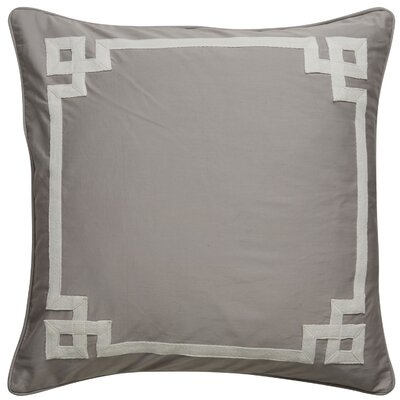 Darvell Border Pattern Square Throw Pillow Color: Grey / Ivory