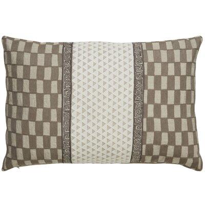 Brightwood Checker Linen Throw Pillow
