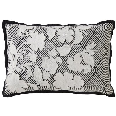 Brightwood Stitched Floral Pattern Rectangular Cotton Throw Pillow