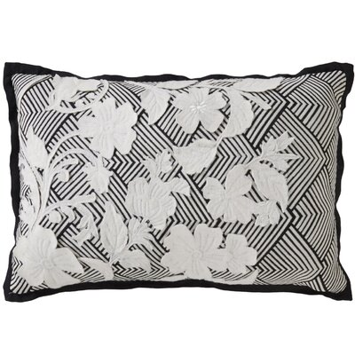 Brightwood Stitched Floral Pattern Cotton Throw Pillow