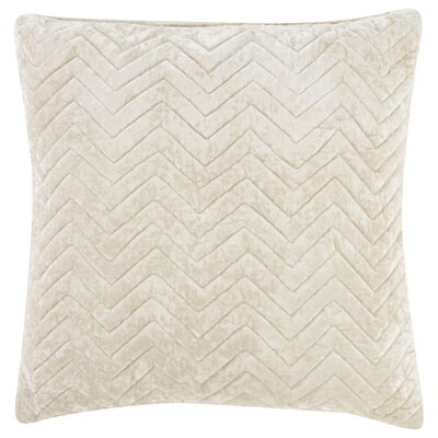 Brightwood Quilted Chevron Pattern Square Throw Pillow