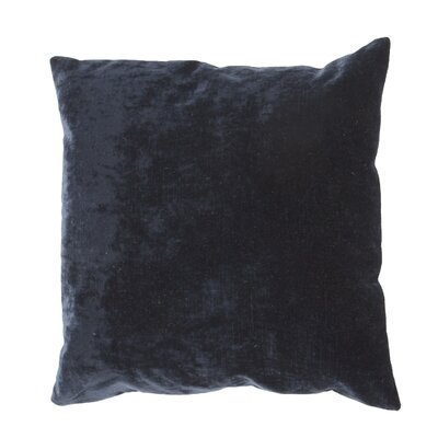 Capucina Solid Rectangular Throw Pillow Color: Blue Night