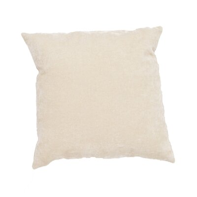 Capucina Solid Rectangular Throw Pillow Color: Ivory / White