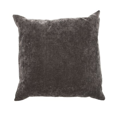 Capucina Solid Rectangular Throw Pillow Color: Charcoal Grey