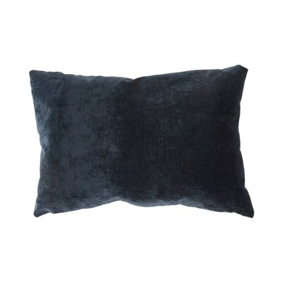 Capucina Solid Lumbar Pillow Color: Blue Night