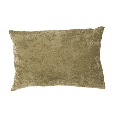 Capucina Solid Lumbar Pillow Color: Olive