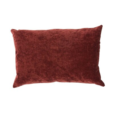 Capucina Solid Lumbar Pillow Color: Red