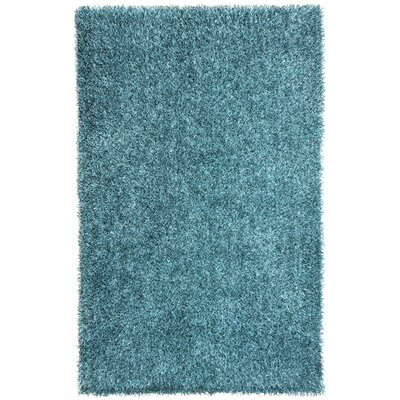 Woodside Smoke Blue Shag Area Rug Rug Size: Rectangle 76 x 96