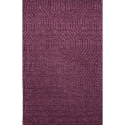 Barnes Wool Solids/Handloom Purple Area Rug Rug Size: Rectangle 5 x 8