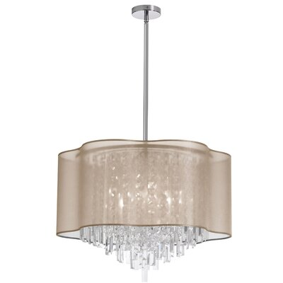Francina 8-Light Crystal Chandelier Shade Color: Gold