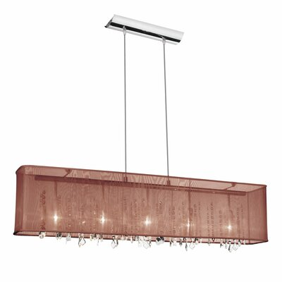 Lydney Crystal 5-Light Kitchen Island Pendant Shade: Broan Organza Shade