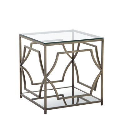 George End Table Color: Brass