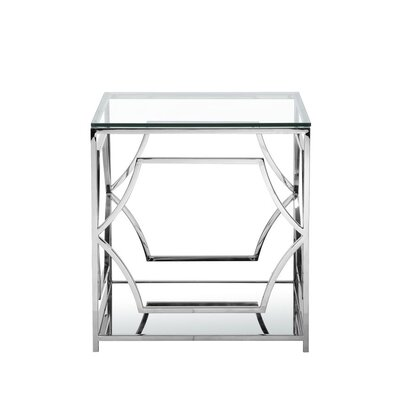 George End Table Color: High Polish Steel