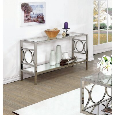 Heverlee Console Table Color: Chrome