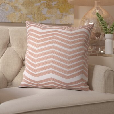 Glaucodot Thick Chevron Throw Pillow Color: Rose Gold