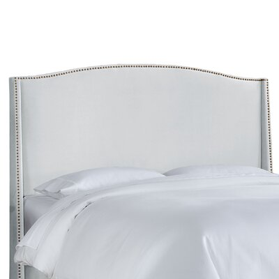 Doleman Contemporary Upholstered Wingback Headboard Size: Queen, Upholstery: Velvet Buckwheat