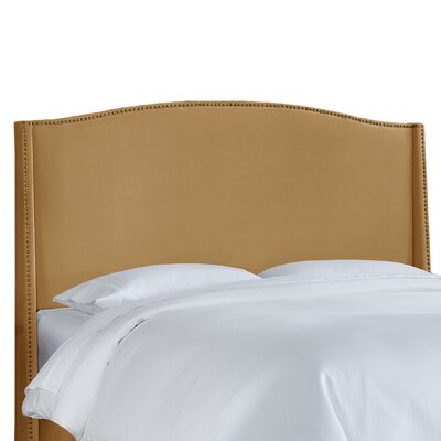 Doleman Contemporary Upholstered Wingback Headboard Upholstery: Honey, Size: Queen