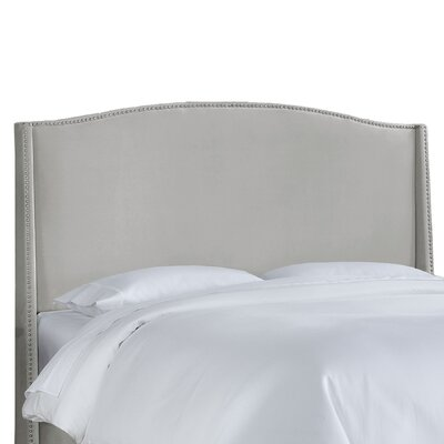 Doleman Contemporary Upholstered Wingback Headboard Size: Full, Upholstery: Light Grey