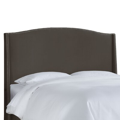 Doleman Contemporary Upholstered Wingback Headboard Size: Full, Upholstery: Pewter
