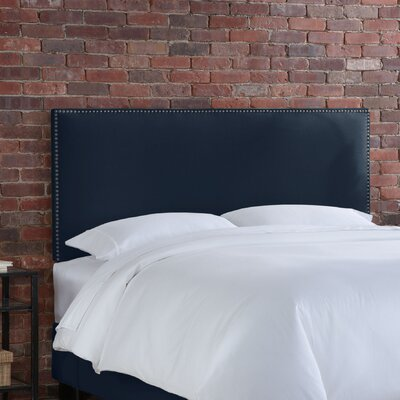 Doleman Upholstered Panel Headboard Size: Twin, Upholstery: Blueberry