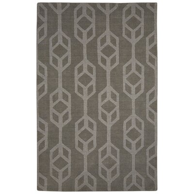 Brompton Hand-Tufted Gray Area Rug Rug Size: 2 x 3