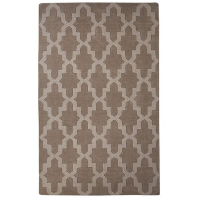 Brompton Hand-Tufted Gray Area Rug Rug Size: 8' x 10'