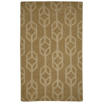 Brompton Hand-Tufted Beige/Brown Area Rug Rug Size: 8 x 10