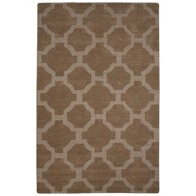 Brompton Hand-Tufted Tan Area Rug Rug Size: Rectangle 8 x 10