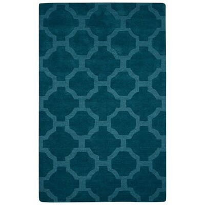 Brompton Hand-Tufted Blue Area Rug Rug Size: Rectangle 5 x 8