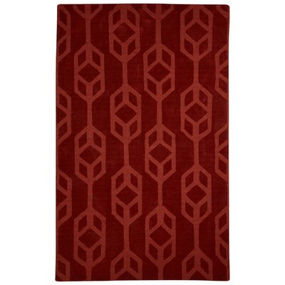 Brompton Hand-Tufted Red Area Rug Rug Size: 9 x 12