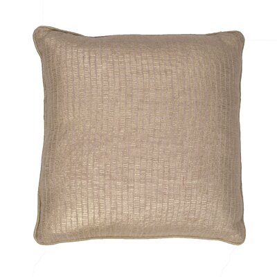 Chantae Square Metallic Cotton Throw Pillow Color: Champagne