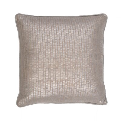 Chantae Metallic Cotton Throw Pillow Color: Silver