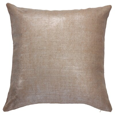 Chantae Square Throw Pillow Color: Incense/Silver