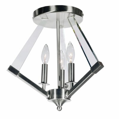 Griffin 3-Light Semi Flush Mount