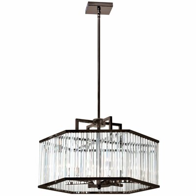 Dru 6-Light Crystal Chandelier