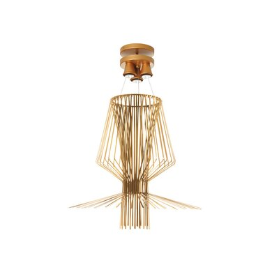 Lorelei 3-Light Pendant Finish: Gold