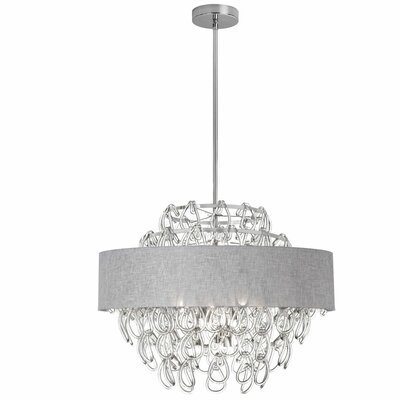 Fontenoy 12-Light Crystal Chandelier Shade Color: Gray